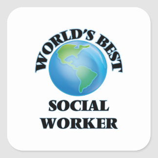 World's Best Social Worker Square Stickers