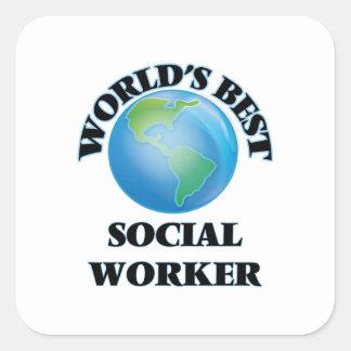 World's Best Social Worker Square Sticker