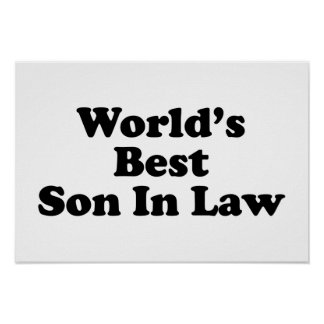 World's Best Son In Law Poster