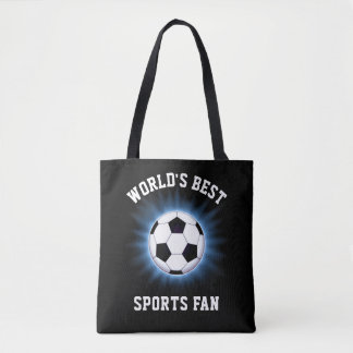 World's Best Sports Fan All-Over-Print Tote Bag
