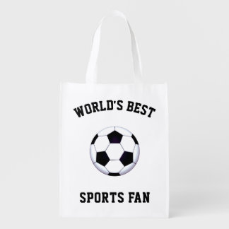 World's Best Sports Fan Reusable Grocery Bag