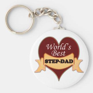 World's Best Step-Dad Keychain