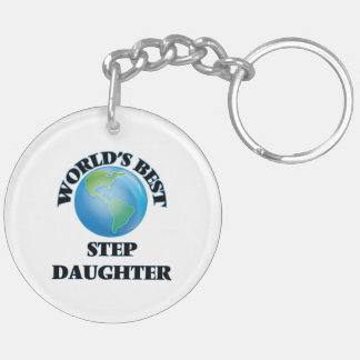 World's Best Step-Daughter Acrylic Key Chains