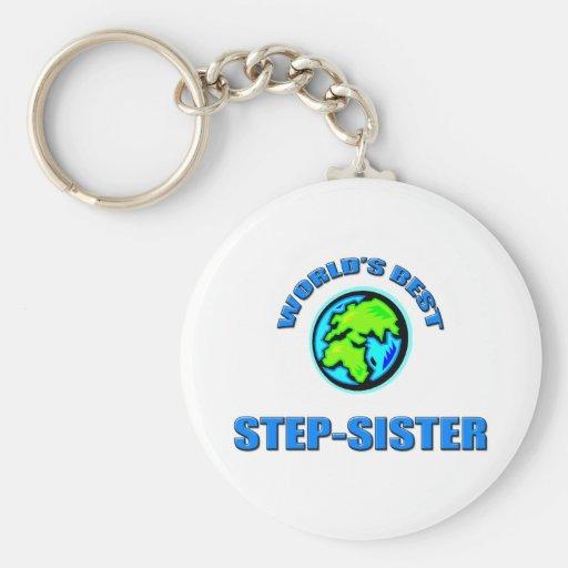 World's Best Step-Sister Keychain