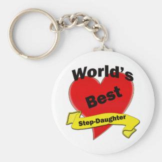 World's Best Stepsister Basic Round Button Keychain