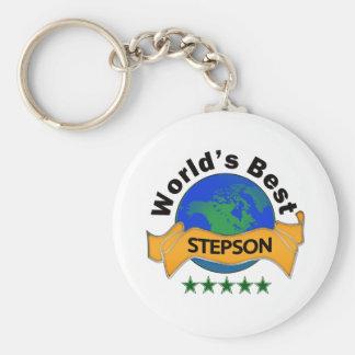 World's Best Stepson Basic Round Button Keychain