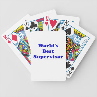 Worlds Best Supervisor Bicycle Playing Cards