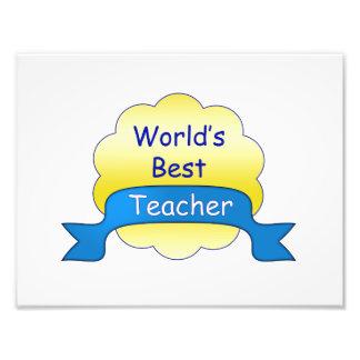 World's Best Teacher Art Photo