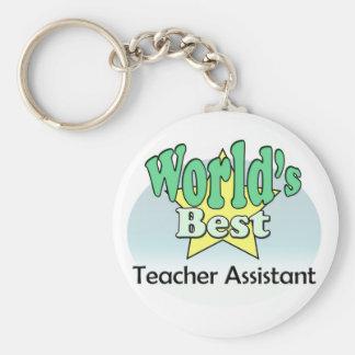 World's best Teacher Assistant Keychain