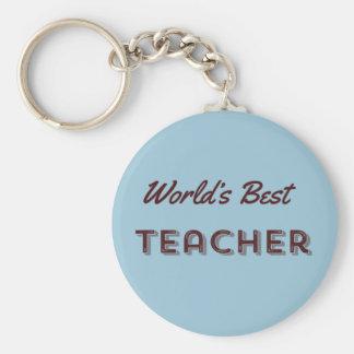 World's Best Teacher Basic Round Button Keychain