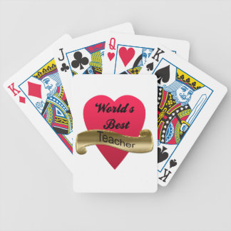 World's Best Teacher Bicycle Playing Cards
