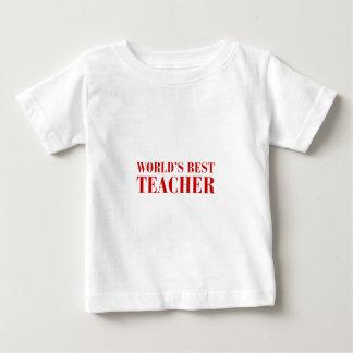 worlds-best-teacher-bod-brown.png baby T-Shirt