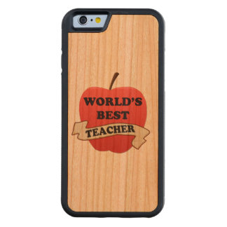 World's Best Teacher Carved Cherry iPhone 6 Bumper Case