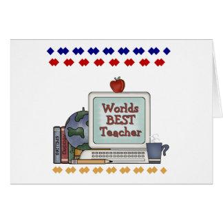 Worlds Best Teacher Greeting Card