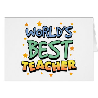 World's Best Teacher Greeting Cards