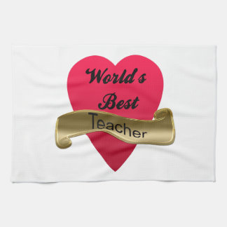 World's Best Teacher Hand Towels