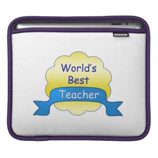 World's Best Teacher iPad Sleeve