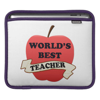 World's Best Teacher iPad Sleeve