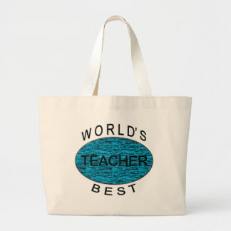 World's Best Teacher Large Tote Bag