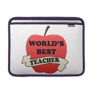 World's Best Teacher MacBook Sleeve