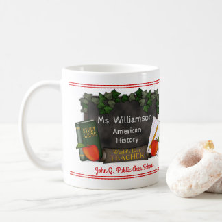 World's Best Teacher Name | School | Subject Coffee Mug