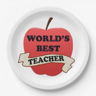 World's Best Teacher Paper Plate