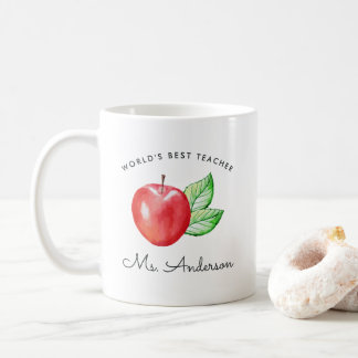 World's Best Teacher | Personalized Apple Coffee Mug