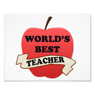 World's Best Teacher Photo Print