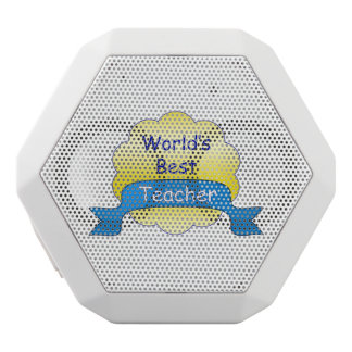 World's Best Teacher White Bluetooth Speaker
