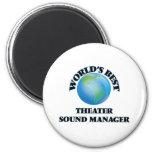 World's Best Theatre Sound Manager 2 Inch Round Magnet