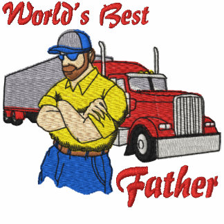 World's Best Trucker Embroidered Shirt
