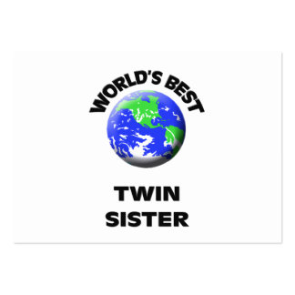 World's Best Twin Sister Business Card Templates