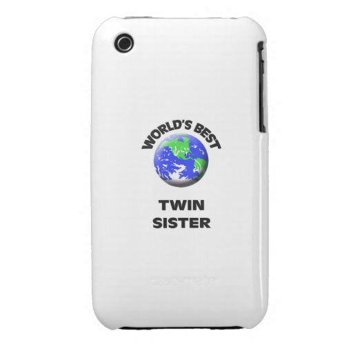 World's Best Twin Sister Case-Mate iPhone 3 Case