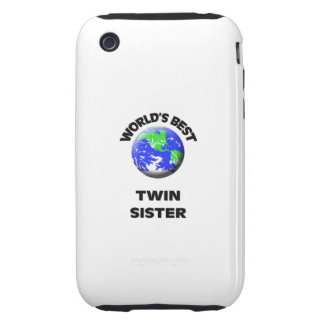 World's Best Twin Sister iPhone 3 Tough Case
