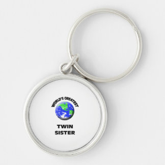 World's Best Twin Sister Key Chain