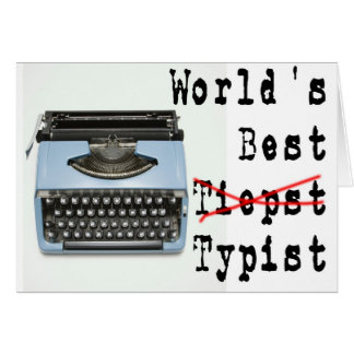 World's Best Typist Card