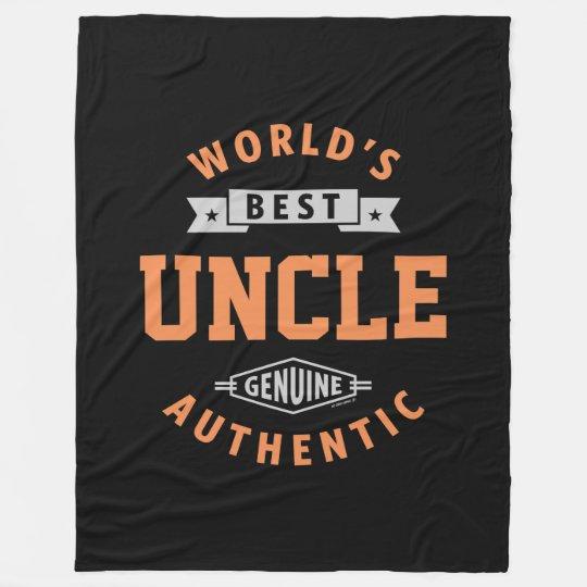 World's Best Uncle Fleece Blanket