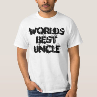 worlds best  uncle tee shirt