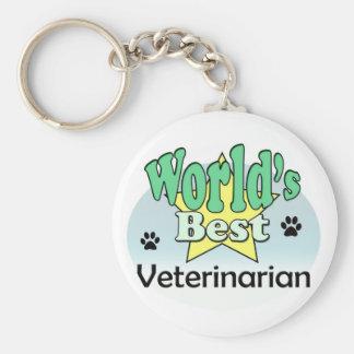 World's best Veterinarian Basic Round Button Keychain