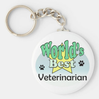 World's best Veterinarian Keychain