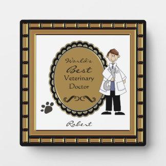 World's Best Veterinarian Male Plaque