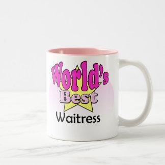 World's best Waitress Two-Tone Coffee Mug