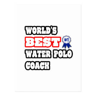 World's Best Water Polo Coach Postcard