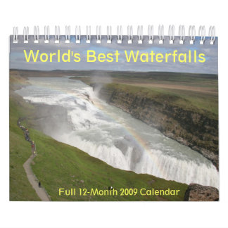 "World's Best Waterfalls 2009 Calendar 7""x11"""