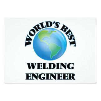 "World's Best Welding Engineer 5"" X 7"" Invitation Card"