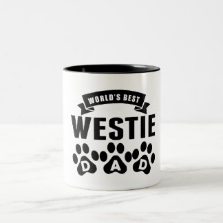 World's Best Westie Dad Two-Tone Coffee Mug