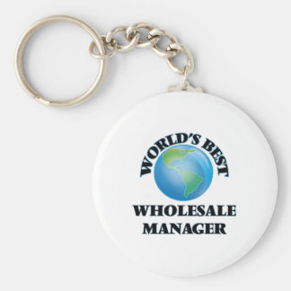World's Best Wholesale Manager Keychain