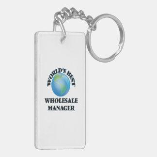 World's Best Wholesale Manager Rectangle Acrylic Keychain