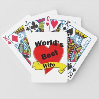 World's Best Wife Poker Deck