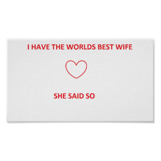 Worlds best wife poster
